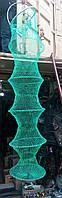 Садок рибальський капронову з металевими кільцями і ручкою.
