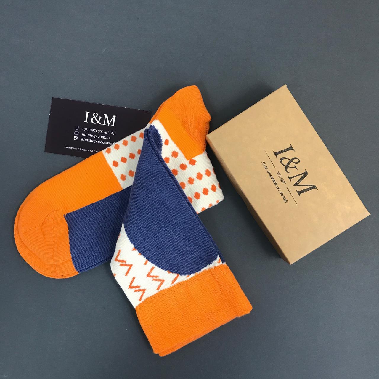 Носки I&M Craft оранжевого цвета (070146)