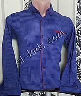 Стильна сорочка для хлопчика 116-146 см(опт) (синя) (пр. Туреччина)