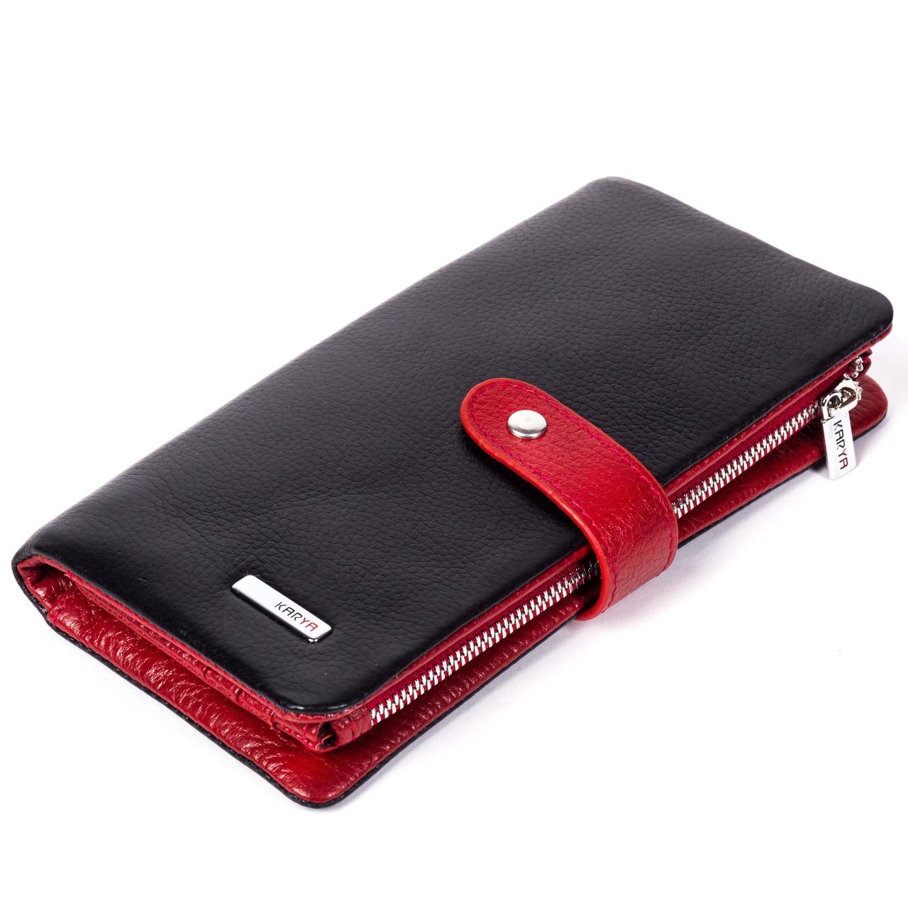 Кошелек KARYA 1135-45 черный с красным