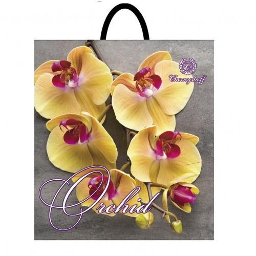 Полиэтиленовый пакет с пластиковой ручкой (сумка) ''Веточка желтых'' 400*420, 10 шт