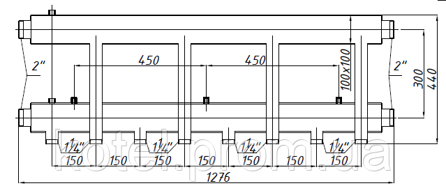 Размер коллектора СК 463.150