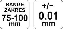 Микрометр 75-100мм YATO YT-72303, фото 3
