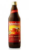 """Сік Яблуко - Манго органічний, пастеризований, 750 мл.,""""Organic Apple-Mango Juice"""" Німеччина"""