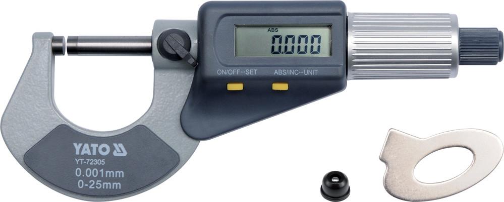 Микрометр электронный 0-25мм с цифровым дисплеем YATO YT-72305