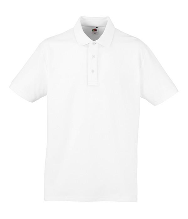 Мужская Рубашка Поло Heavy S, 30 Белый