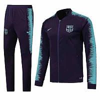 Спортивный костюм Барселона на длинной змейке (Тренировочный клубный костюм FС Barcelona )+Горловик