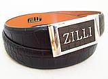 Кожаный ремень ZILLI , фото 2