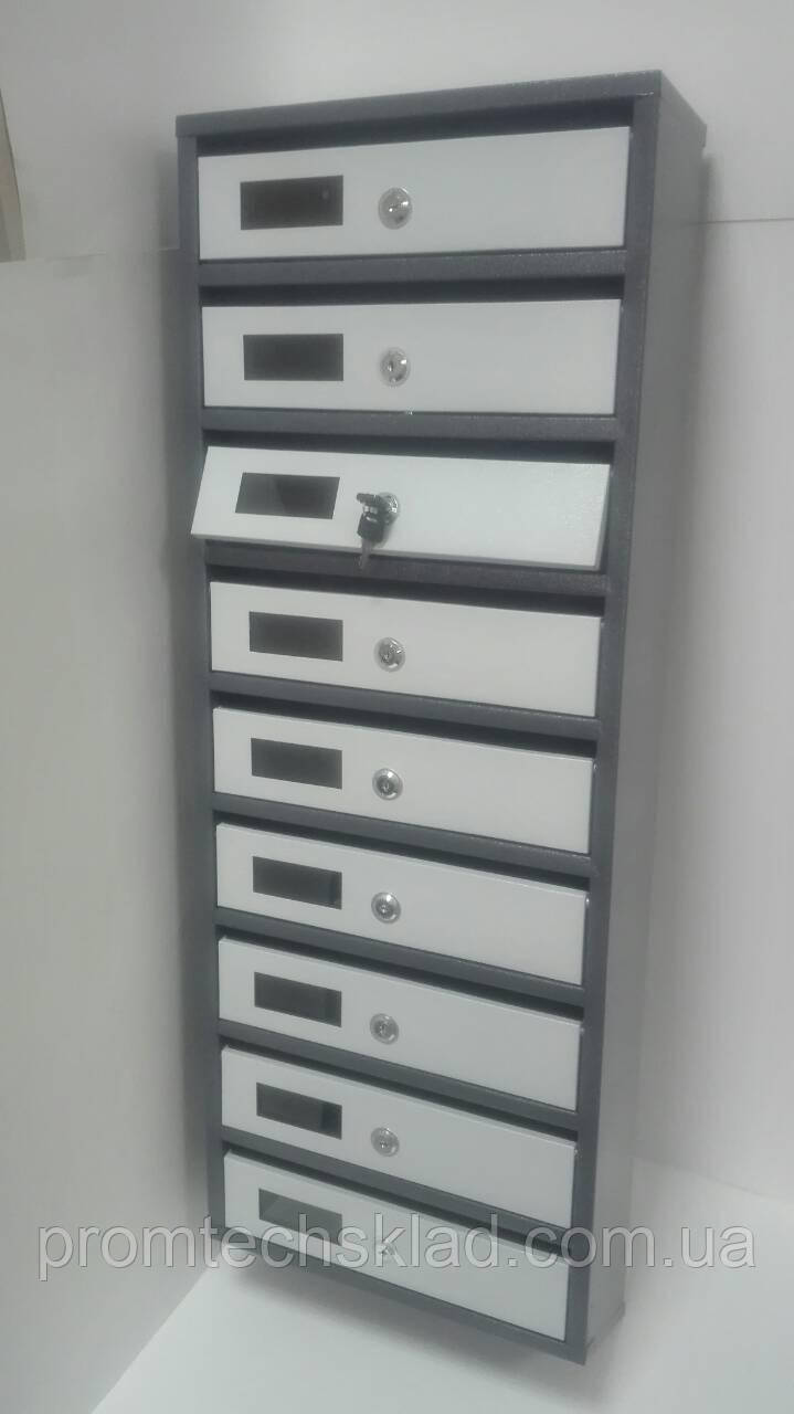 Ящик почтовый на 9 ячеек с задней стенкой