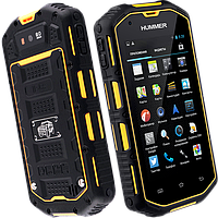 Hummer H5 IP-68, GPS, 3500 мАч, 8 Mpx, 2 ядра, Android 4.4, IPS-дисплей. Телефон-танк!