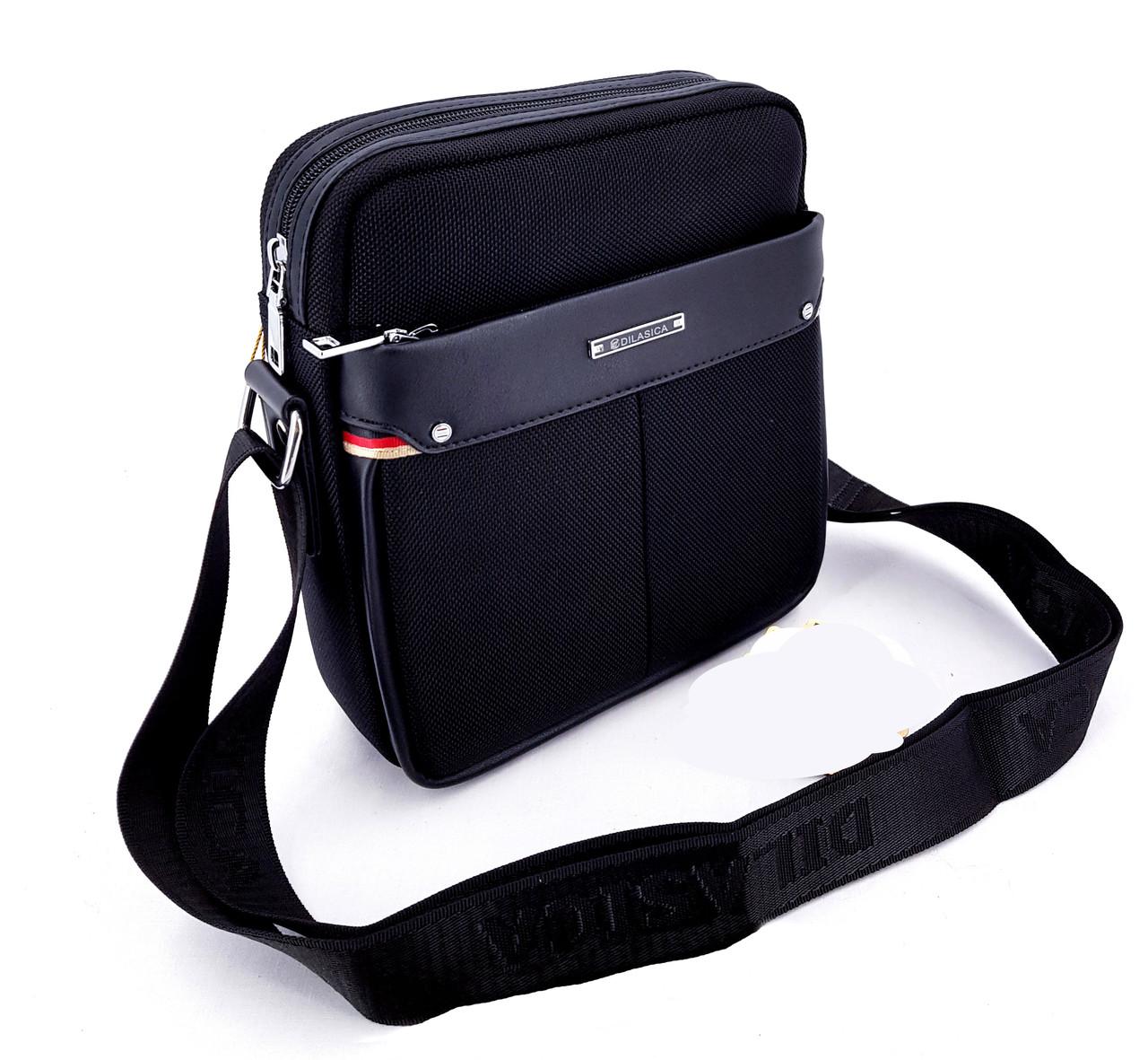 63762d656690 Черная Мужская сумка через плечо Dilasica сумка-планшетка новинка -  Интернет магазин Lisbag в Умани