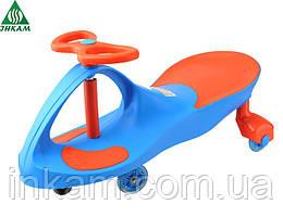 Самоходная детская машинка Smart Сar NEW BLUE+ORANGE