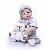 Кукла реборн 57 см полностью виниловый мальчик Вадим