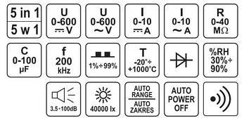 Цифровой мультиметр YATO YT-73087, фото 3