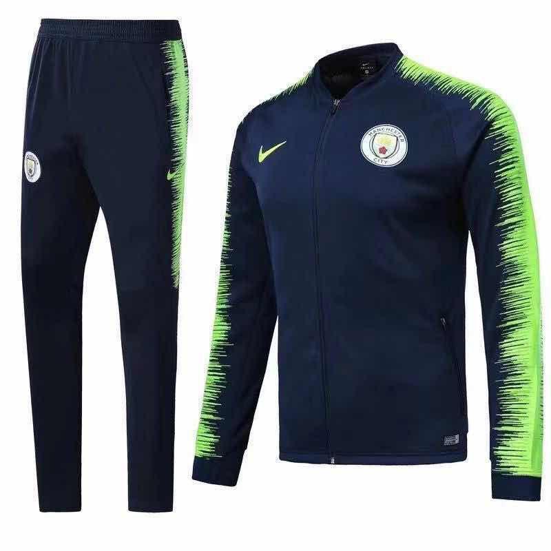 Спортивный костюм Манчестер Сити на длинной змейке (Тренировочный клубный костюм Manchester City)