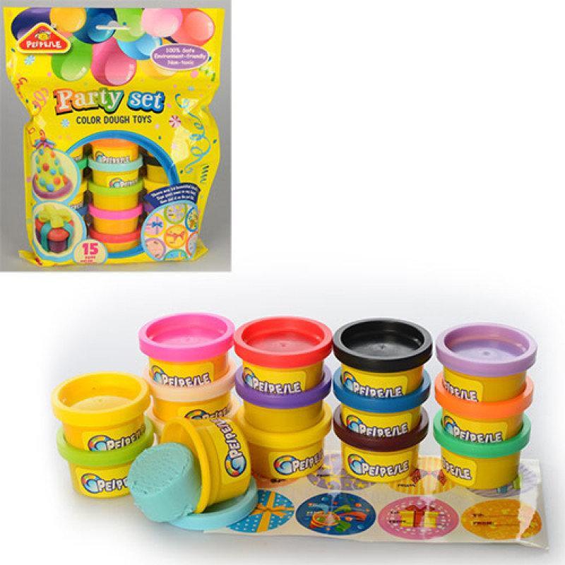 Тісто для ліплення 3618 ароматизоване, 15 кольорів, в кульку, 20-26-5 см