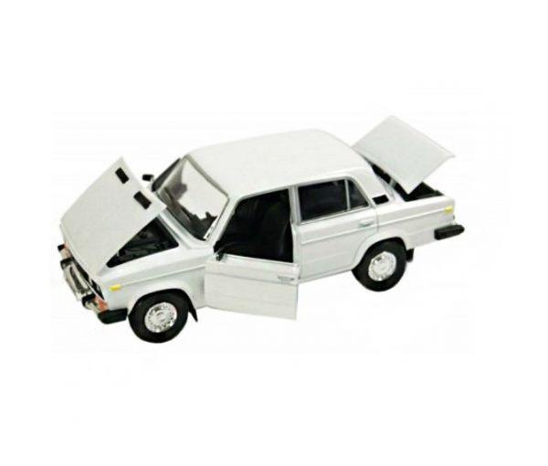 Машинка колекційна ВАЗ 2106 металева модель біла