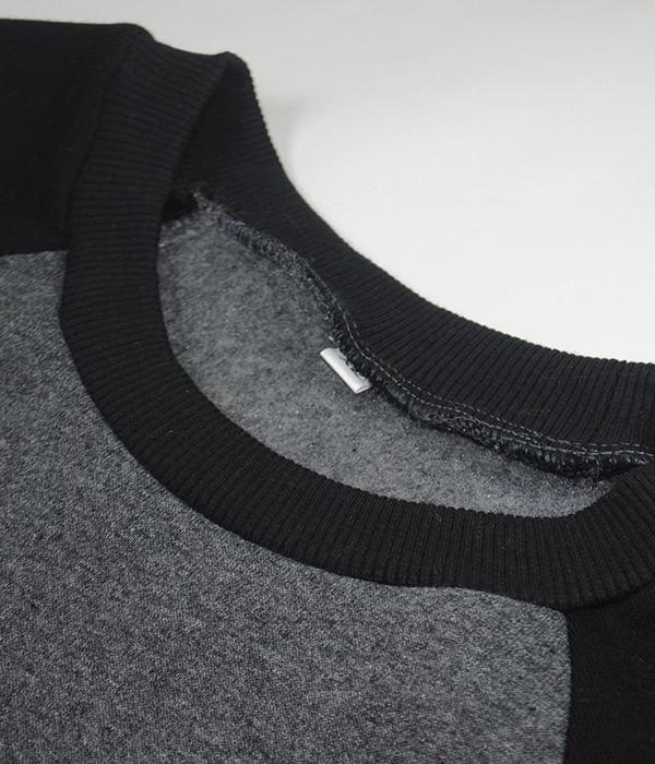 Мужской реглан двухцветный M, PHB Темно-Серый / Черный