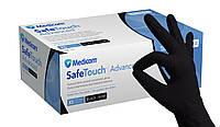 Чорні рукавички нітрилові Medicom SafeTouch Advanced Black, фото 1