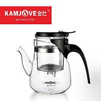Чайник заварочный с кнопкой Kamjove TP-853, 600 мл, фото 1
