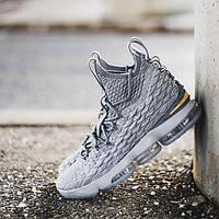 """Баскетбольные кроссовки Nike LeBron 15 """"Wolf/Grey/Gold"""""""