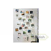Мудборд (Mooadbord) Wish White 100*60 - доска желаний, декоративная решетка