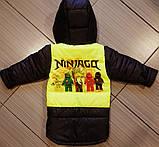 Демисезонная детская куртка Ниндзяго с отстегными рукавами, фото 2