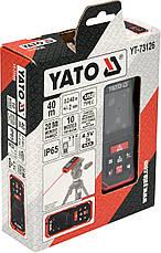 Лазерная рулетка дальномер до 40м YATO YT-73126, фото 2