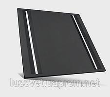 Черная светодиодная панель 600*600 с линиями света 120лм/Вт SpectrumLED ALGINE LINE BLACK 44W (черная)