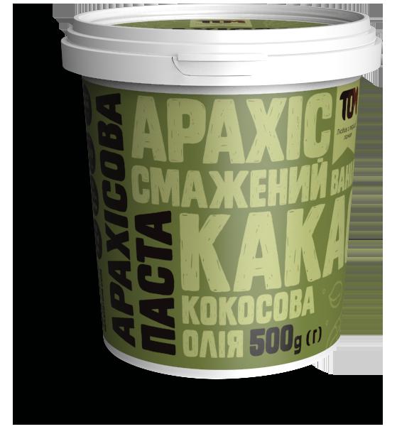 Арахисовая паста ТОМ - С какао и кокосовым маслом Special Edition (500 грамм)