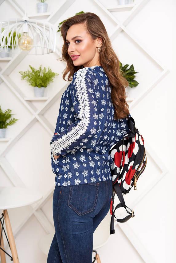 Женская джинсовая кофта на молнии с кружевом, фото 2