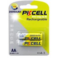 Аккумулятор PKCELL 1.2V AA 2600mAh NiMH Rechargeable Battery, 2 штуки в блистере цена за блистер, Q12