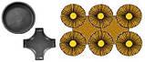 Формы для тротуарной плитки Круг-Крест или Серпантин, фото 3