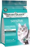 Arden Grange Adult  Sensitive Cat 2кг - беззерновой корм для кошек с деликатным желудком