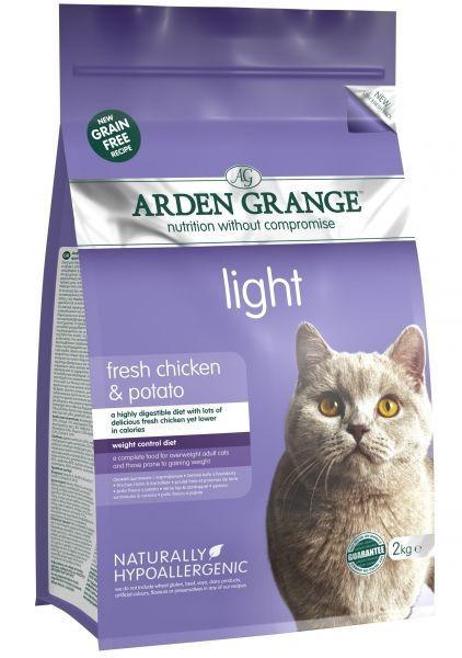 Arden Grange Cat Light Fresh Chicken and Potato 4 кг -беззерновой низкокаллорийный корм для кошек