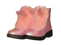 Зимние ботинки с ушками 7272 розовый, р 32-37, фото 1