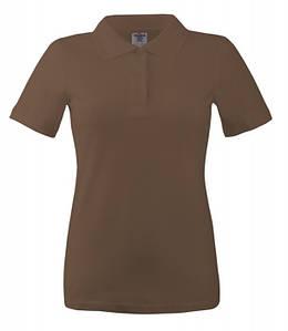 Женская футболка поло S, KBR Коричневый
