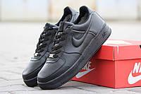 Подростковые зимние кроссовки Nike Air Force черные 46р, фото 1