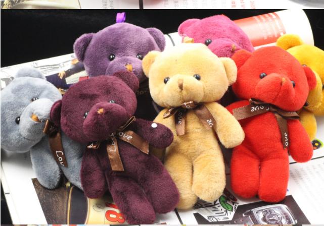 Медведь брелок на рюкзак или сумку Мишка мягкий плюшевый