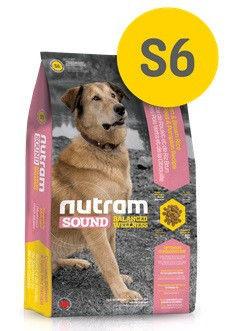 S6 Nutram Sound 20кг-корм для собак с курицей и коричневым рисом