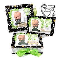 Набір фотоальбом, мамині скарби, папка для документів для хлопчика на народження ручної роботи