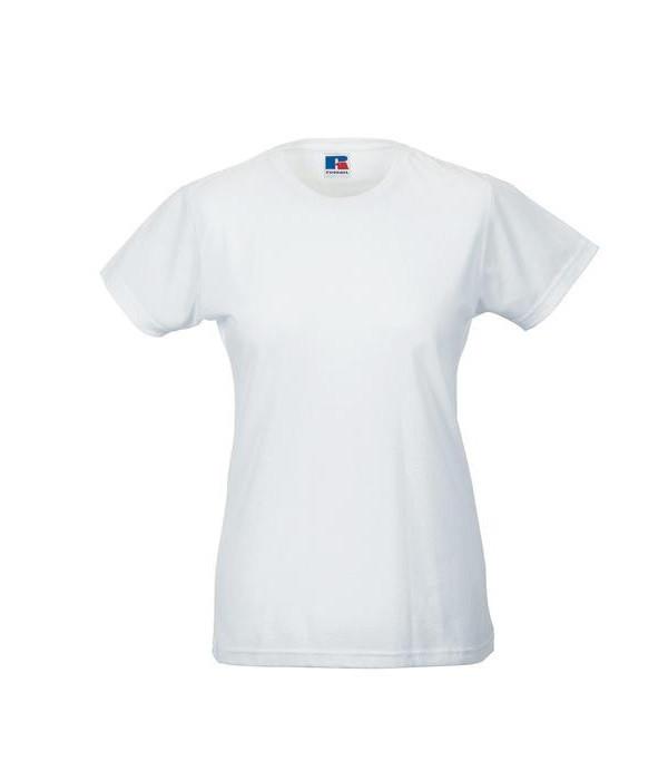 Женская тонкая футболка  S, RБелый