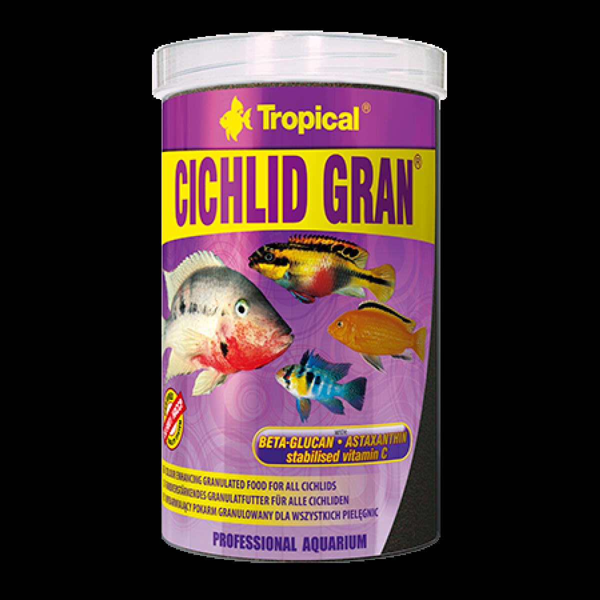 Tropical Cichlid Gran 250 мл - корм для цихлид с астаксантином  (60454)