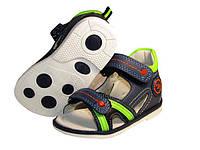 Ортопедические кожаные босоножки Clibee F227 салат , р  20.21
