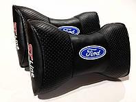 Подушка на подголовник Ford ST line черная