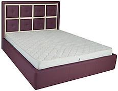 """Ліжко Віндзор (з гудзиками) (комплектація """"Комфорт"""") з підйом.хутро."""