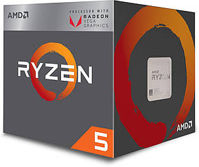 Процессор AMD Ryzen 5 2400G YD2400C5FBBOX 3600 МГц (минимум) 3900 МГц (максимум) AM