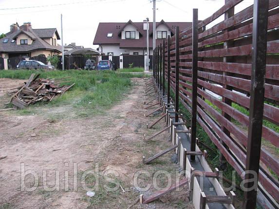 Заливка фундамента под забор, фото 2