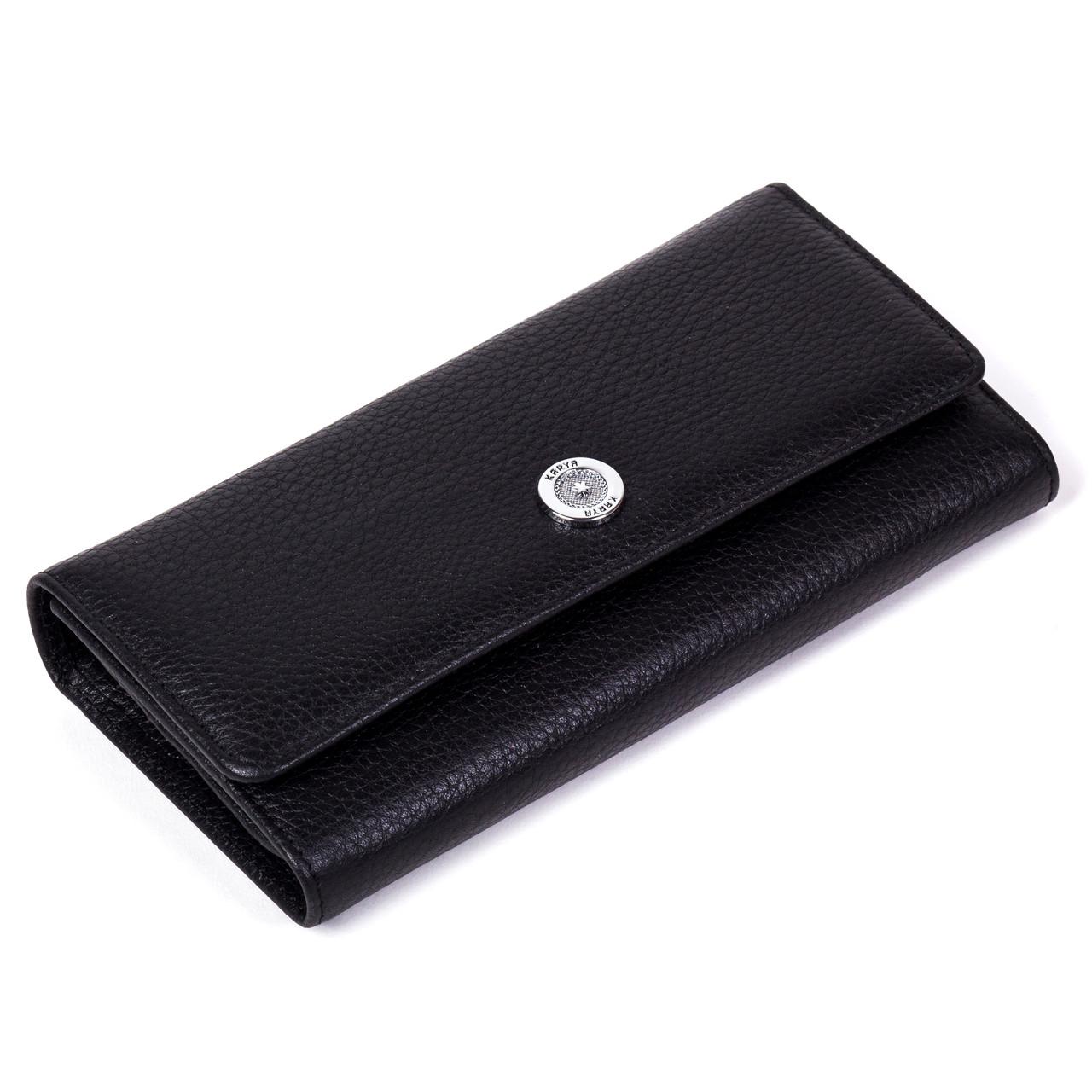 20d82ef3b34c Кошелек Karya 1146-45 черный из натуральной кожи - FainaModa магазин  кожаных изделий в Тернополе