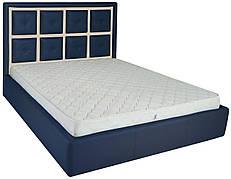 """Ліжко Віндзор (з гудзиками) (комплектація """"Люкс"""") з підйом.хутро."""